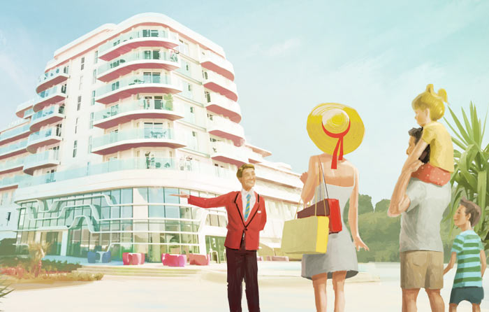 Butlins TV Ad animation designs